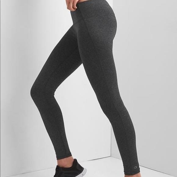 89c45b4472 GAP Pants | Fit Workout Leggings Gfast Charcoal Heather | Poshmark